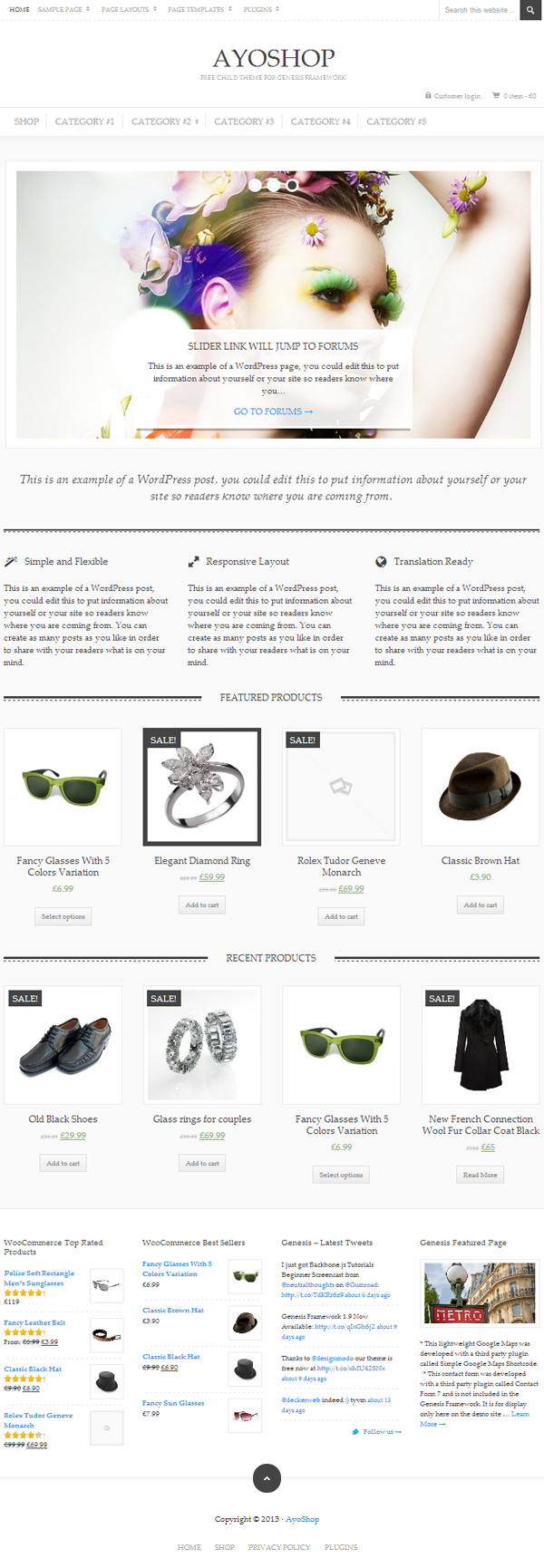 AyoShop Responsive eCommerce WordPress Themes - 4