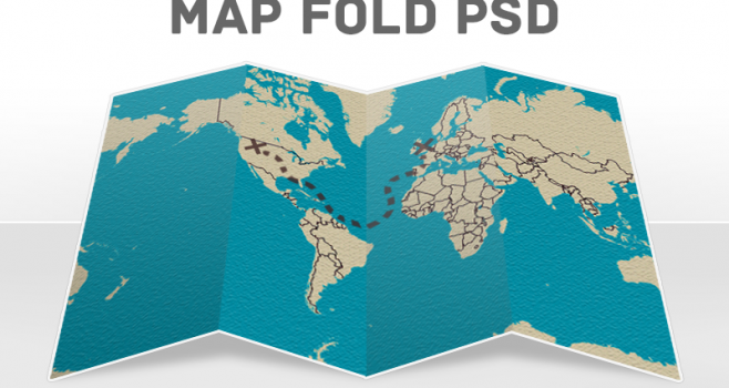 Free psd files 50 high quality photoshop files for designers editable folded map sciox Choice Image