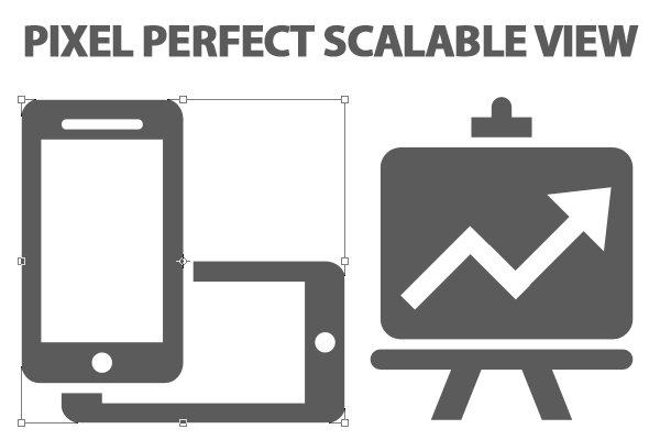 Free UI icons psd pixelperfect scalable view