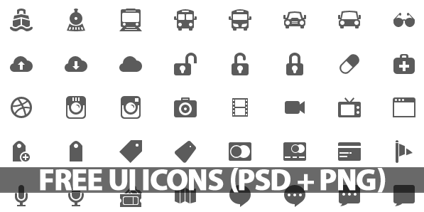 500 free ui icons psd png icons graphic design junction