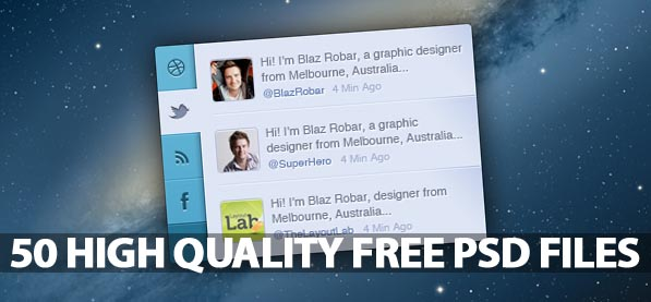 Free PSD Files: 50 High-Quality Photoshop Files For Designers