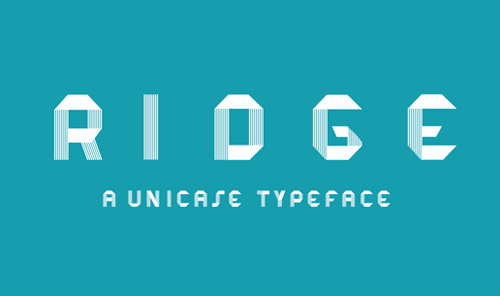 RIDGE Typeface freefonts - 3