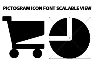 pictogram icon font Scalable, Customizable View