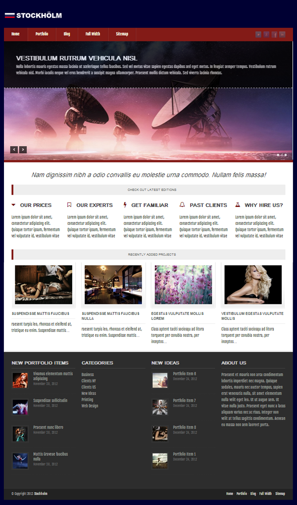 Stockholm Responsive WordPress Themes - 6
