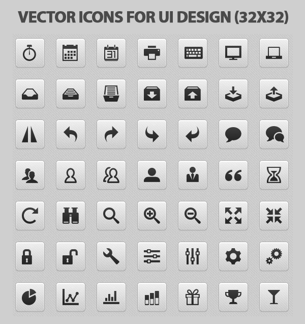 vector icons for-ui-design preview - 2