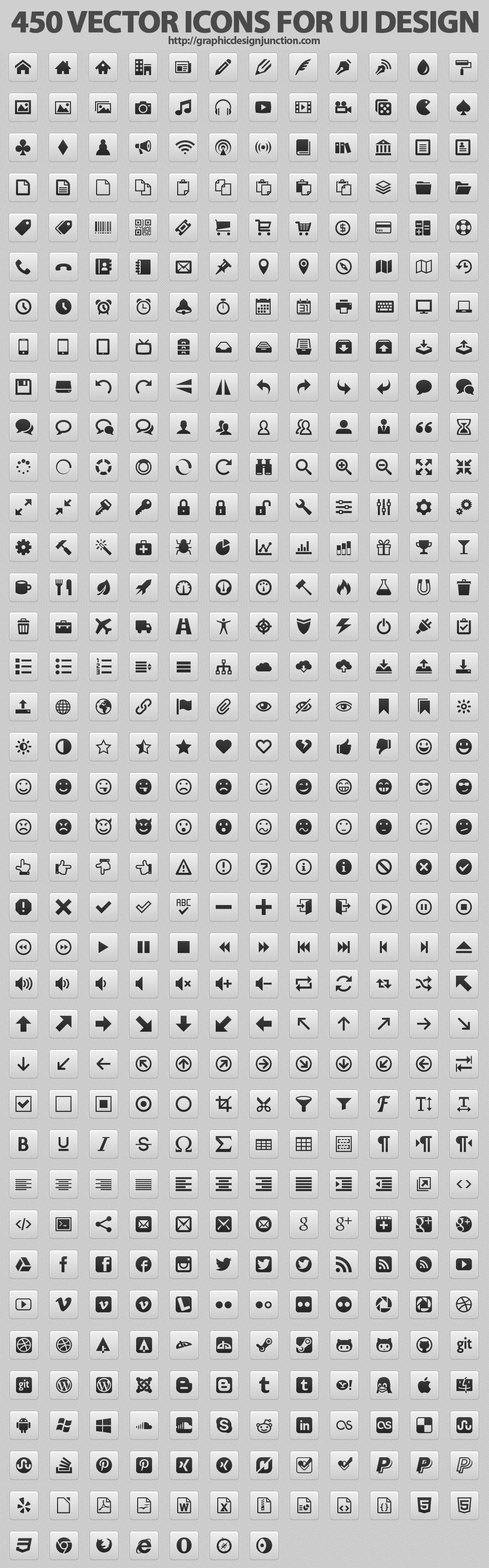 450 Beautiful Vector Icons For Website UI Design | Icons ...