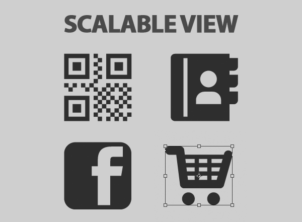 vector icons for-website-ui design scalable-view