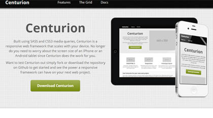 Centurion: Responsive Web Framework For Rapid Prototyping