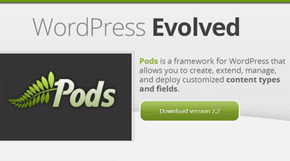 Pods: Flexible Framework for WordPress