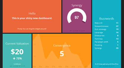 Awesome Dashboard Design framework : Dashing