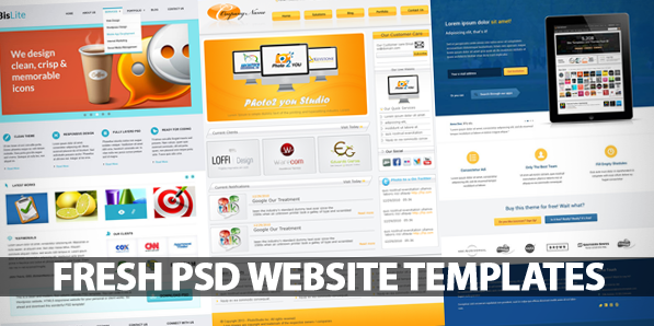 Fresh & Free PSD Website Templates