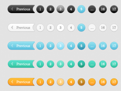 Pagination PSD Files - 6