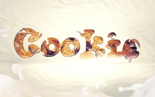 Create an Interesting Cookie Bite Text Effect in Photoshop