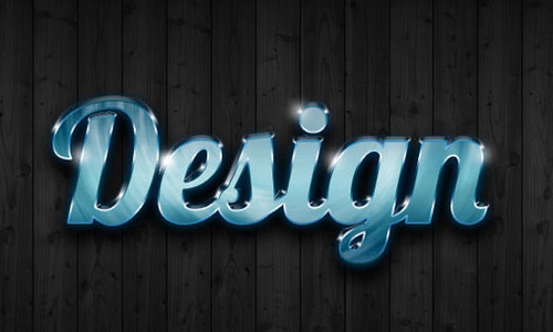 Photoshop Ultra Glossy Text Effect
