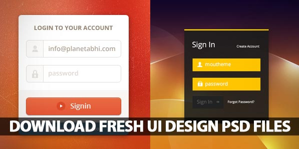Free PSD Files: 25 Fresh UI Design PSD Files for Download