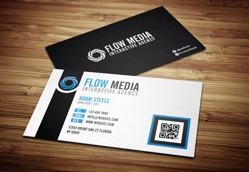 Modern business cards design 25 fresh examples design graphic busienss card psd template 1 flashek Images