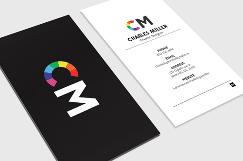 Personal Branding Charles Miller Professional Business Card Design 16