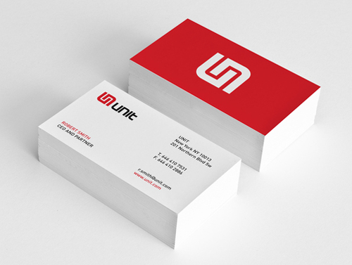unit minimal business card design - Business Card Design Inspiration