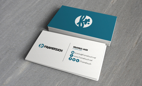 Modern business cards design 25 fresh examples design graphic 13 frametouch minimal business card design colourmoves