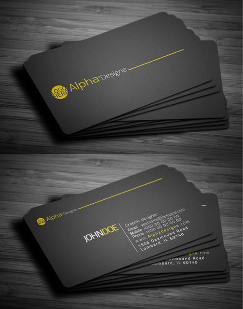 Modern business cards design 25 fresh examples design graphic 6 corporate business card colourmoves