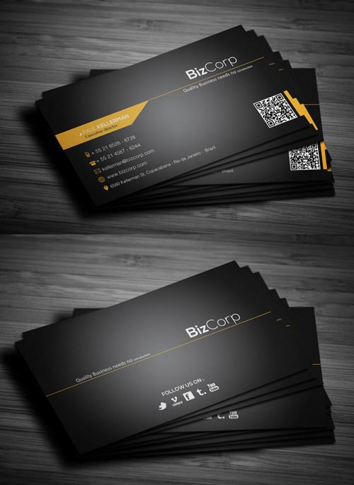 Modern business cards design 25 fresh examples design graphic 7 black stylish business card colourmoves