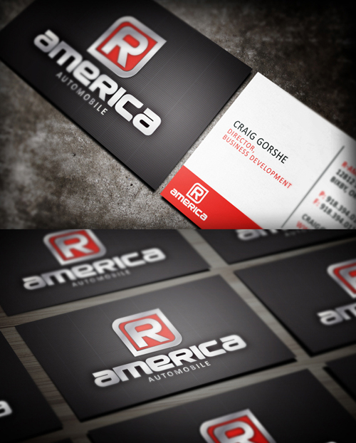 Modern business cards design 25 fresh examples design graphic 9 r america automotive business card design colourmoves
