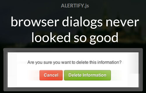 Alertify: Customizable Dialogbox with JavaScript
