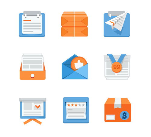 Flat Icons and Web Elements for UI Design-13