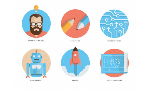 Flat Icons and Web Elements for UI Design-23