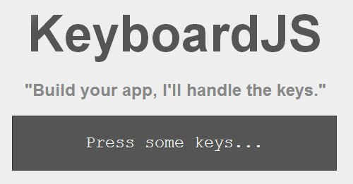 KeyboardJS: A JavaScript library for Handling keyboard and Combos