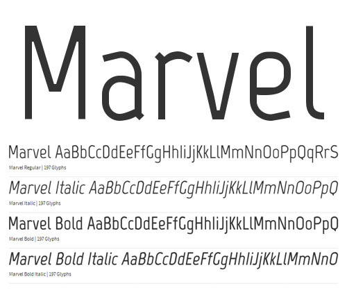 Marvel Free Fonts