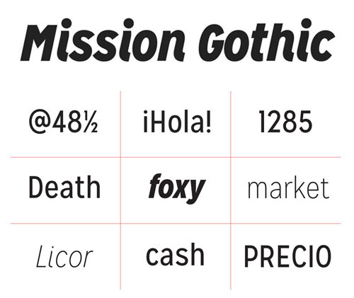 MISSION GOTHIC Free Fonts