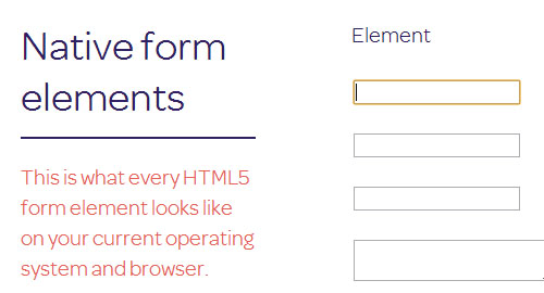 Native Form Elements: All Form Elements in One Place