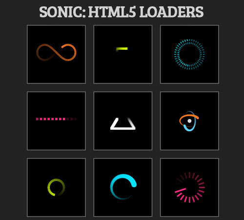 Sonic: HTML5 Loaders with an Editor