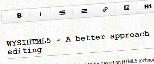 WYSIHTML5: Rich Text Editor With HTML5 Markup