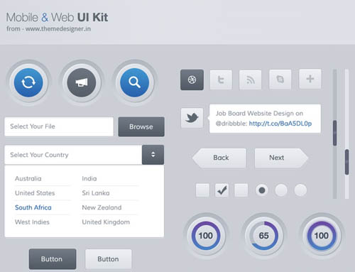 Free Psd UI Kits For Web and Mobile-2