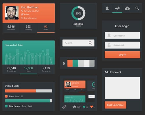 Free Psd UI Kits For Web and Mobile-24