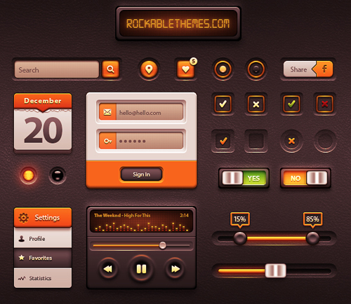 Free Psd UI Kits For Web and Mobile-29