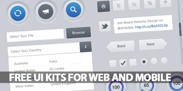 35 Free UI Kits for Web and Mobile