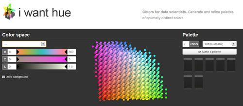iWantHue: Web-based Tool For Creating Color Palettes