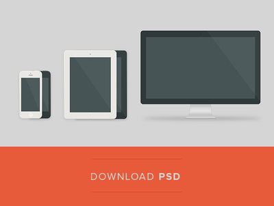 Flat Devices with Free PSD Mockups-4