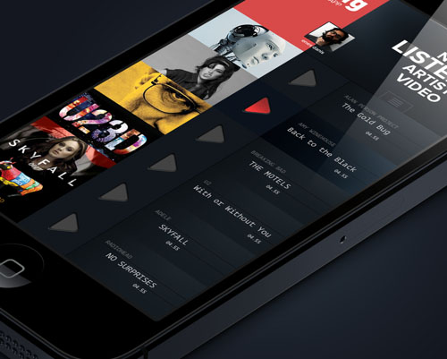 iPhone Music App Concept UI-UX Design
