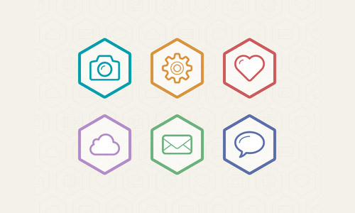 Flat Outline Icons