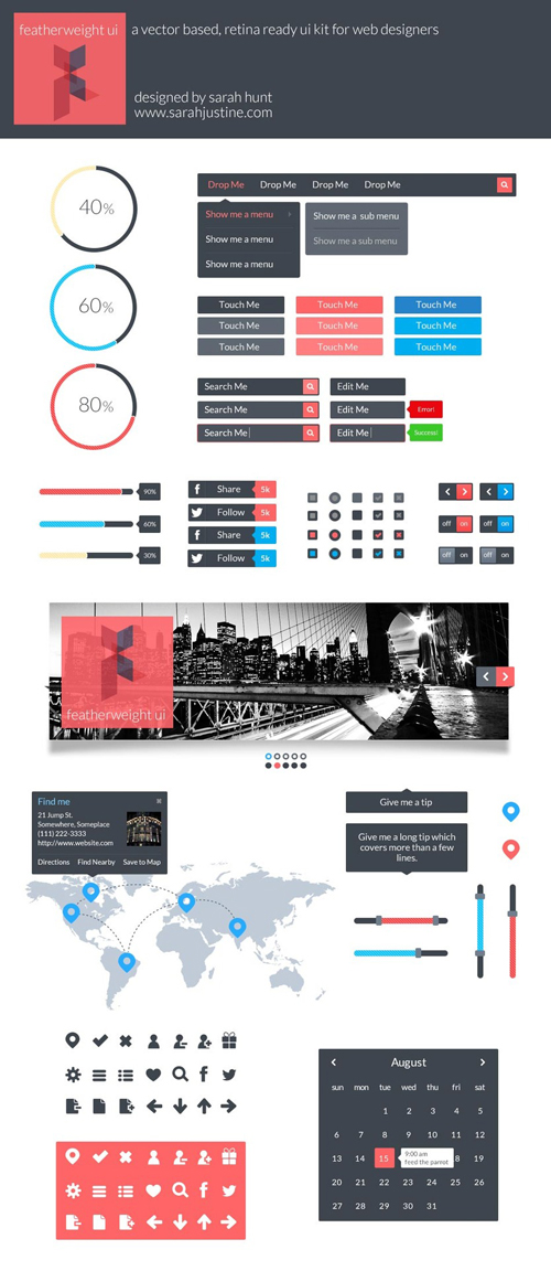 Flat UI Design Elements-30