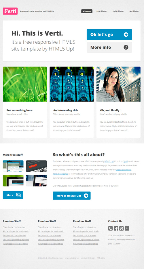 Free responsive web templates with psd freebies for Free responsive website templates