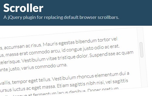 Scroller: A jQuery Plugin For Changing Your Default Browser Scrollbars
