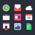 Post thumbnail of 40 Beautiful Flat Icon Sets For Web UI Design