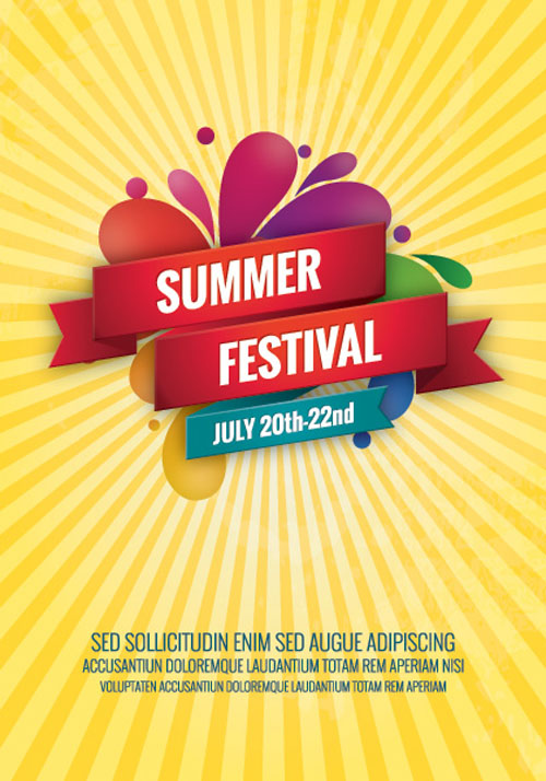 Summer Festival Vector Graphics