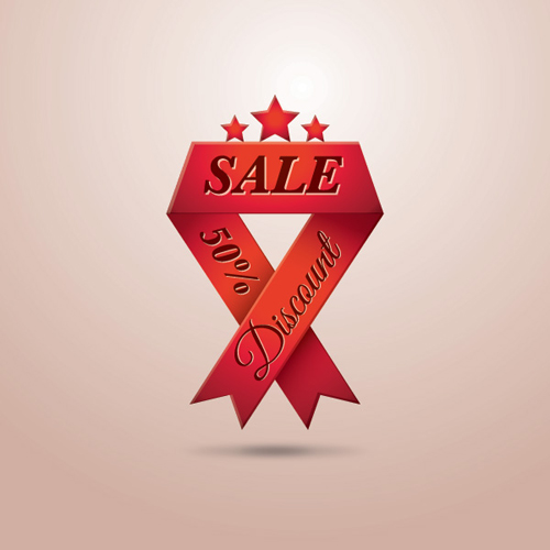 Sale Ribbon Vector Graphic