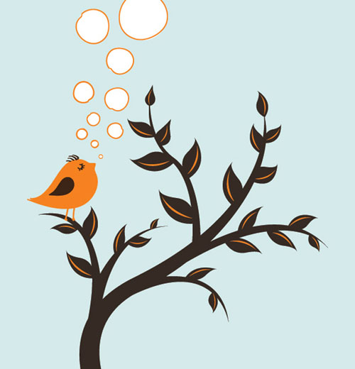 Spring Bird Vector Graphics